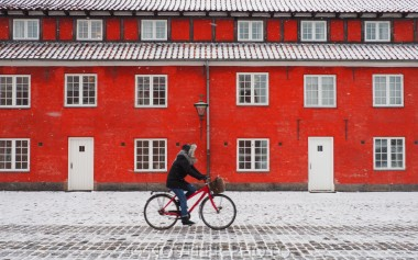 Copenhagen cycles all the year.