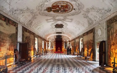 The Long hall at Rosenborg castle.