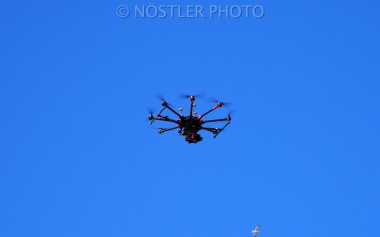 A drone on work